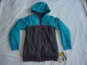Under Armour Blue Rain Hoodie Jacket Youth X-Large KidsChildren Water Resistant
