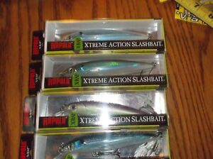 RAPALA X-RAP-12's--lot of 4 DIFFERENT COLORED-FISHING LURES-XR12