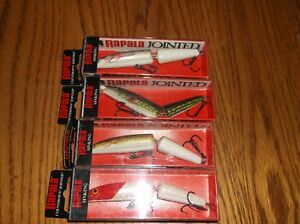 RAPALA COUNTDOWN JOINTED 11's- LOT of 4 DIFFERENT COLORED FISHING LURES-CDJ11