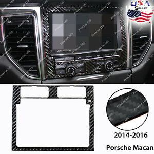 Carbon Fiber GPS Dashboard Panel Trim Decor Sticker For 2015- 2018 Porsche Macan