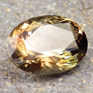 PEACH-GOLD-GREEN MULTICOLOR MYSTIQUE SCHILLER OREGON SUNSTONE 13.60Ct FLAWLESS