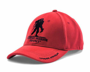NEW RED UNDER ARMOUR GOLF HAT CAP ADJUSTABLE SNAP BACK WOUNDED WARRIOR PROJECT