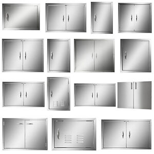 New 31 Outdoor Kitchen / BBQ Island Stainless Steel Double Access Door USA