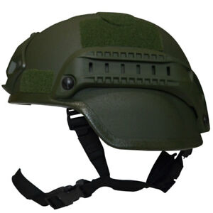 Valken V Tactical Airsoft MICH 2000 Helmet with Mount and Rails Green NEW
