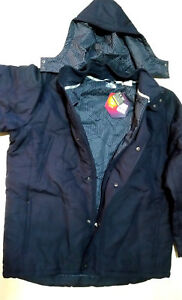 UNDER ARMOUR INFRARED  WINTER  MENS  JACKET WITH HOOD   SIZE XXL  COLOR  NAVY