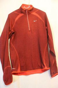 Nike Fit Dry 14 Zip Shirt Size M Red