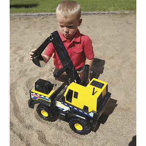 Tonka Classic Steel Mighty Backhoe Construction Toy