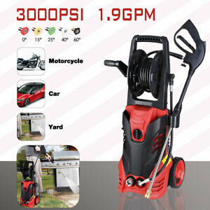 3000PSI 1.9GPM Electric Pressure Washer Water Cleaner Power Sprayer Kit 2200W $115.90