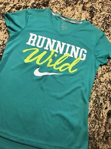 Nike Dry Fit Women's Shirt Size Small Green