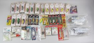 Huge lot of 56 NEW in Package NOS Fishing Lures&Chuck Worms RapalaBass Pro Shop