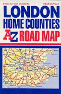 London and the Home Countles Road M... by Geographers' A-Z Map Sheet map folded