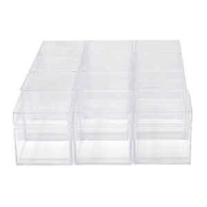 Clear Plastic Square Box with Lid 2 Inch 12 Count $17.82