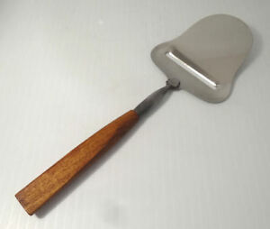 Unique Flat Angled Wood Mid Century Modern Cheese Slicer Planer Stainless Blade