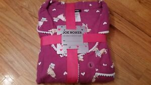 Joe Boxer Women's Flannel Pajama Shirt & Pants - Dachshund LARGE SIZE L