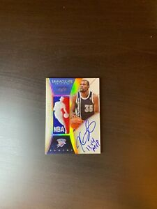 Kevin Durant 2013-14 Panini Immaculate Logoman patch auto inscriptions MVP 11