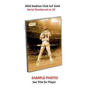 2016 Topps Stadium Club 5x7 Gold # 10 Made HENRY OWENS Red Sox RC #147
