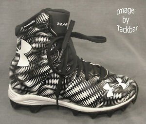 Boy's Size 1 Y Under Armour Highlight BlackWhite Football Shoes