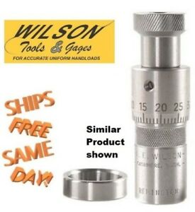 L.E.Wilson Stainless Steel Micrometer Top Inline Seater 6.5 Creedmoor S65-CRE