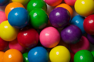 Double Bubble One Inch Gumballs Assorted Flavors 5 Pound BAG Gum Balls 1 inch