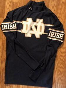 Notre Dame Football Under Armour 2015 Team Issued Under Shirt Xl #81