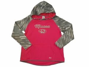 Missouri Tigers Under Armour Coldgear GIRLS Hot Pink Hoodie Sweatshirt (XL)