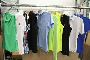 Lot of 50 Womens Golf Shirts Polos EP Sport Peter Millar sz XS MSRP $2500