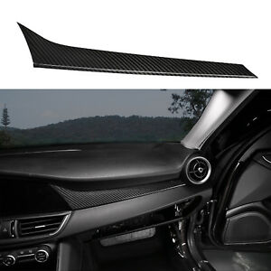 Carbon Fiber Interior Dashboard Console Panel For Alfe Romeo Giulia 2017 2018