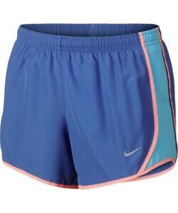 New Youth Girls Nike Tempo Short Running Blue Pink Small