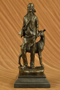Native American Chief Spiritually Real Bronze Sculpture Hand Made Figurine Gift