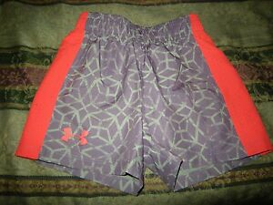 Brand New Girls Purple & Pink Under Armour Heat Gear Shorts Size XS