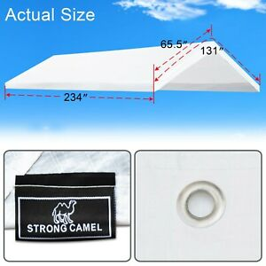 10x20' Carport Replacement Canopy Tent Top Garage Cover w Ball Bungees-Frame not
