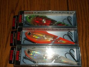 RAPALA SPECIAL JOINTED CLACKIN RAP 14's=3 DIFFERENT COLORED FISHING LURES-JCNR14
