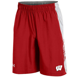 Wisconsin Badgers Under Armour Red Performance Official On-Field Training Shorts