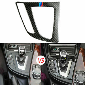 Color Carbon Fiber Gear Shift Panel Interior Trim Sticker For BMW 3 4 Series