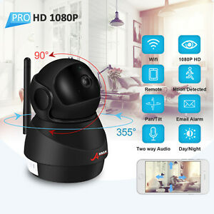 IP 1080P Security Camera System Wireless Two Way Audio Security WiFi Pan Tilt HD