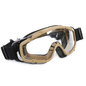 Tactical Paintball Ballistic Goggle Outdoor Sports Glasses + 2pc Lens for Helmet