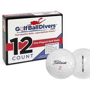 TITLEIST PROV1X-NEAR MINT AAAA GRADE-RECYCLED USED GOLF BALLS-144 PACK