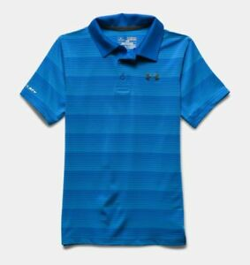 NEW Men's Under Armour Coldblack Chip In Stripe Polo Shirt Ultra Blue X-Large