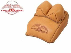 Protektor Model #14 Leather Bunny Ear Rear Shooting Rest Bag Made in USA
