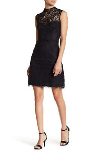 Betsey Johnson Women's Short Cocktail Lace Dress Black 2