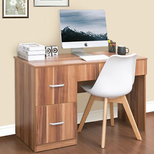 ModernLuxe Computer Desk with Storage Drawer and Cabinets