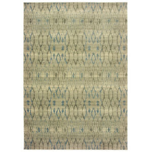 Sphinx Ivory Contemporary Diamonds Banded Crosshatch Area Rug Geometric 1807H