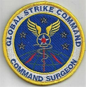 USAF GLOBAL STRIKE COMMAND  PATCH-    'COMMAND SURGEON'  HOOK & LOOP  COLOR