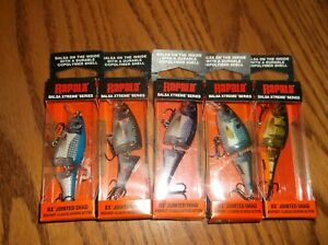 RAPALA BX JOINTED SHAD 06's----lot of 5 DIFFERENT COLORED FISHING LURES-BXJSD06