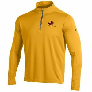 Iowa State Cyclones Under Armour Steeltown Gold Golf Loose 14 Zip LS Pullover