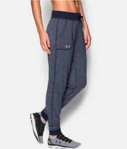 UNDER ARMOUR Womens UA Twisted Tech Track Pant Joggers 1269183 Navy Size L