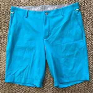 Nike Mens Modern Fit Golf Shorts Turquoise Blue Size 34 Dry-FIT 833231-486