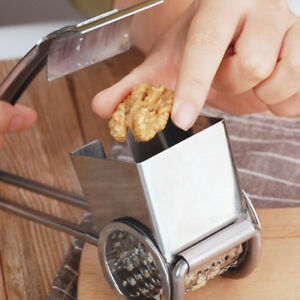 Stainless Steel Garlic Crusher, Ginger Mincer, Rotary Cheese Grater Kitchen