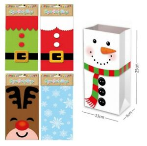 Christmas Table Present Pick n Mix bags ~ Party Paper Loot Candy Sweet Bag