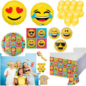 Emojis Kids Birthday Party Supplies for 16 Plates Napkins Tablecloth Photo Props